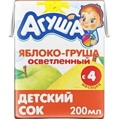 Сок Агуша яблоко-груша осветленный ТБА
