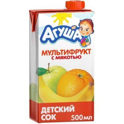 Сок Агуша  мультифрукт с 3 лет