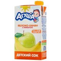 Сок Агуша яблоко-банан с мякотью с 3 лет