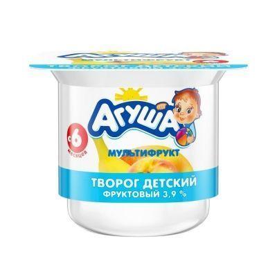 Творог Агуша мультифрукт 3,9% ванна