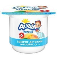 Творог Агуша персик 3,9% ванна