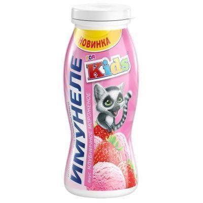 Напиток кисломолочный Имунеле 'Kids' клубнчное мороженое 1,2%