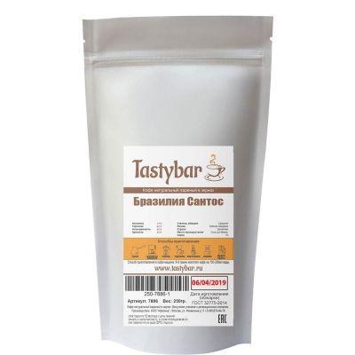 Кофе моносорт Tastybar Бразилия Сантос в зернах