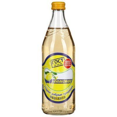 Напиток безалкогольный Традиции Бобылево Лимонад сильногазированный стекло