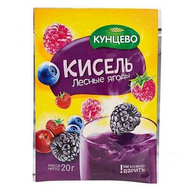 Кисель быстрого приготовления Кунцево Лесные ягоды (пакет)