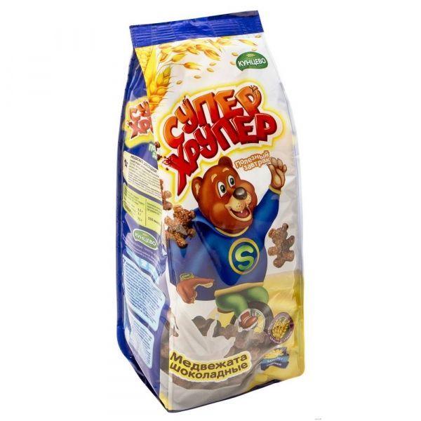 Сухой завтрак Супер Хрупер Медвежата шоколадные (пакет)
