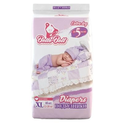 Подгузники Belle-Bell Diapers XL 46шт 12-20кг до 5 часов