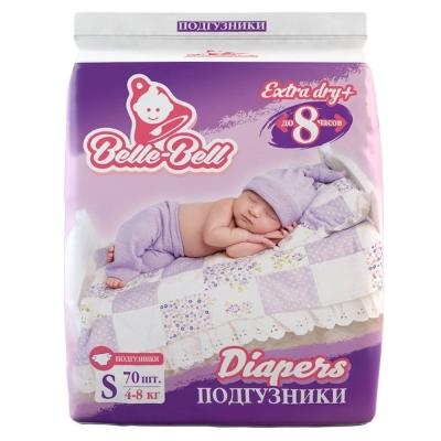 Подгузники Belle-Bell Diapers S 70шт 4-8кг до 8 часов