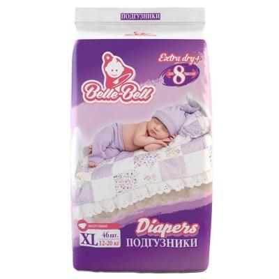 Подгузники Belle-Bell Diapers XL 46шт 12-20кг до 8 часов
