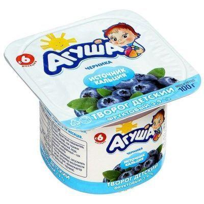 Творог фруктовый Агуша Черника 3,9%