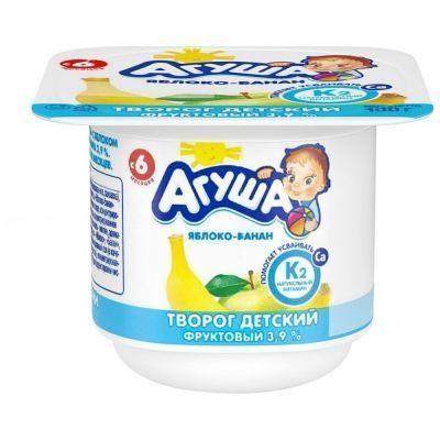 Творог фруктовый Агуша Яблоко-Банан 3,9%