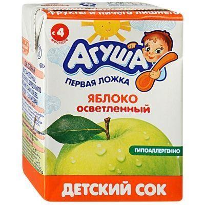 Сок Агуша Яблоко осветленный