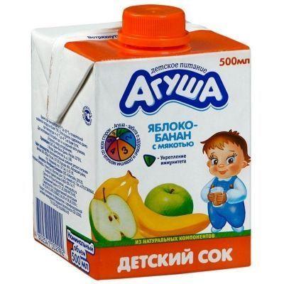 Сок Агуша Яблоко-Банан