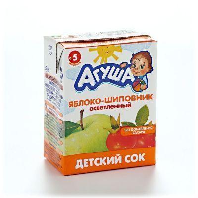 Сок Агуша Яблоко-Шиповник