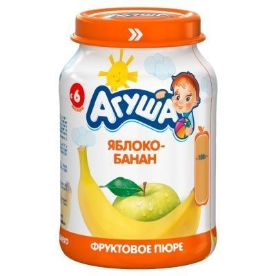 Пюре фруктовое Агуша Яблоко-Банан