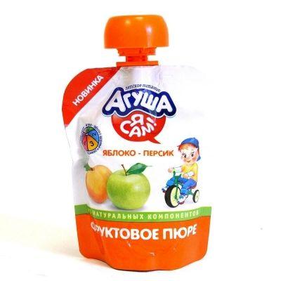 Пюре фруктовое Агуша Я САМ! Яблоко-Персик