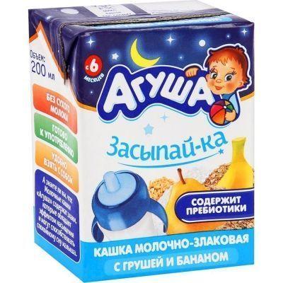 Каша Агуша Засыпайка злаки груша-банан 2,7%