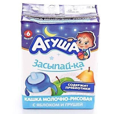 Каша Агуша Засыпайка молочно-рисовая яблоко-груша 2,7%