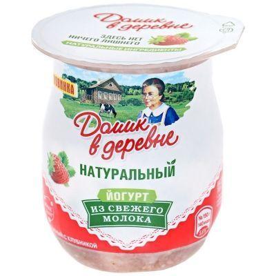 Йогурт термостатный Домик в деревне Клубника 3%