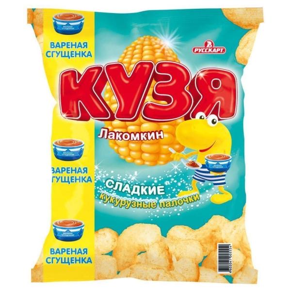 Кукурузные палочки Кузя Лакомкин Сгущенка
