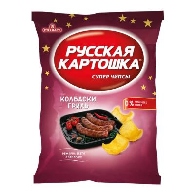 Чипсы Русская картошка Колбаски гриль