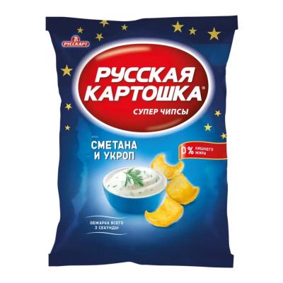 Чипсы Русская картошка Сметана с укропом