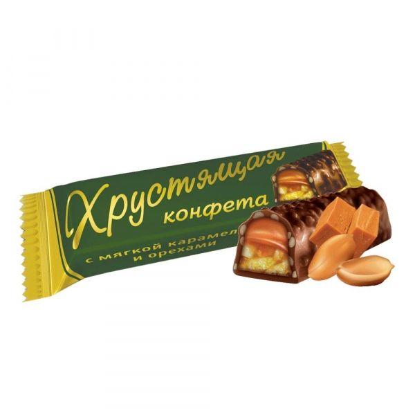 Конфеты Богатырь Хрустящая конфета мягкая карамель, арахис