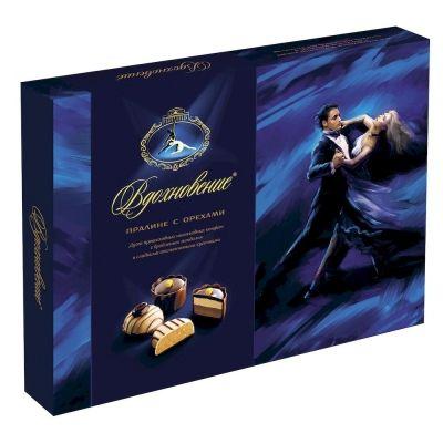 Конфеты в коробке Вдохновение Ля Премьер Пралине с орехами