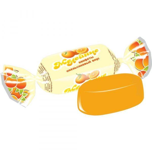 Карамель Желейная вкус апельсин