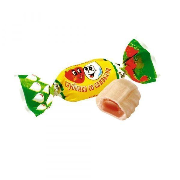 Карамель Клубника со сливками