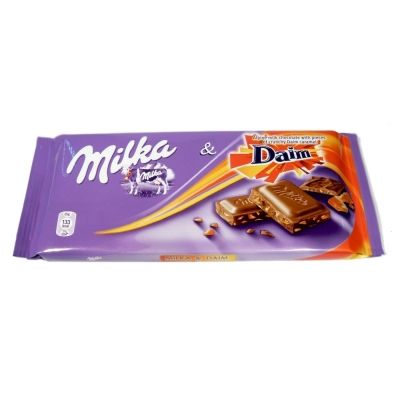 Шоколад Милка Daim карамель, миндаль