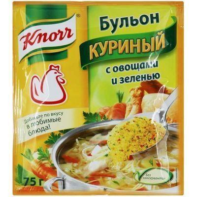 Бульон Кнорр куриный с овощами и зеленью
