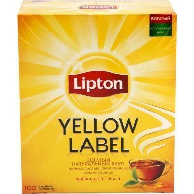 Чай Липтон черный Yellow Label 100 пак.