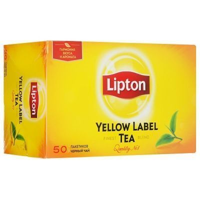 Чай Липтон черный Yellow Label 50 пак.
