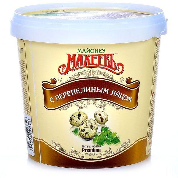 Майонез Махеевъ с перепелиным яйцом 50,5% ведро