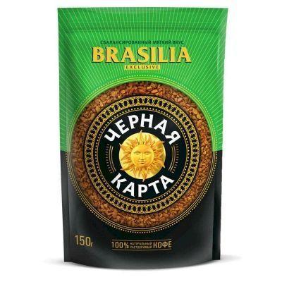Кофе Черная карта Эксклюзив Бразилия растворимый пакет