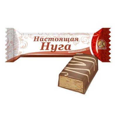 Батончик Славянка Настоящая нуга шоколадная