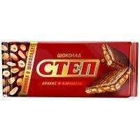 Шоколад Славянка Степ молочный с арахисом и карамелью