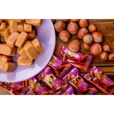Конфеты Тоффи De Luxe со вкусом шоколада и фундука