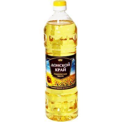 Масло подсолнечное Донской край рафинированное дезодорированное