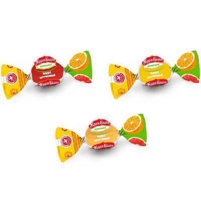 Карамель мини Микс Жили-Были цитрусовые вкусы (лимон, апельсин, грейпфрукт)
