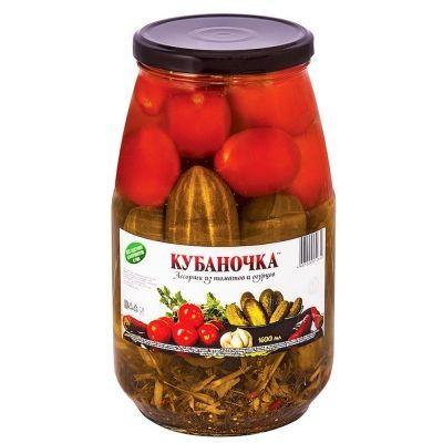 Ассорти из томатов и огурцов Кубаночка ГОСТ стекло