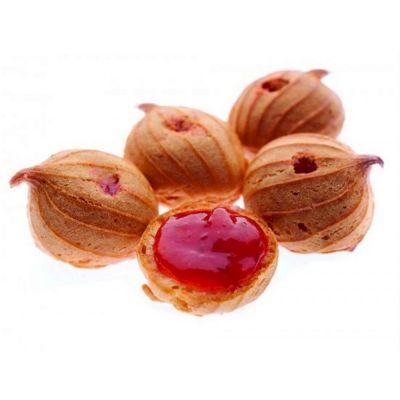 Печенье Гранъ Пышечки заварные с клубничной начинкой