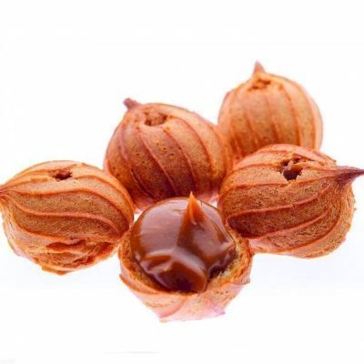 Печенье Гранъ Пышечки заварные с начинкой вареная сгущенка