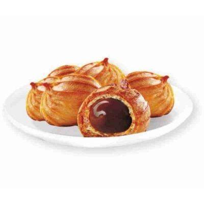 Печенье Гранъ Пышечки заварные с шоколадно-ореховой начинкой