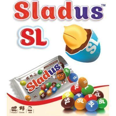 Арахис в цветной глазури Sladus SL