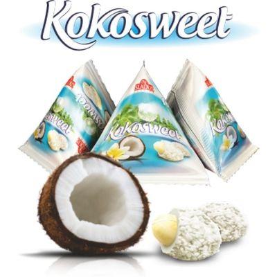 Арахис глазированный в кокосовой стружке Sladus Kokosweet треугольники