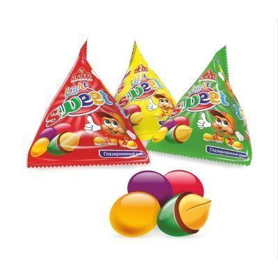 Арахис глазированный в цветной глазури Sladus Sweet Light треугольники