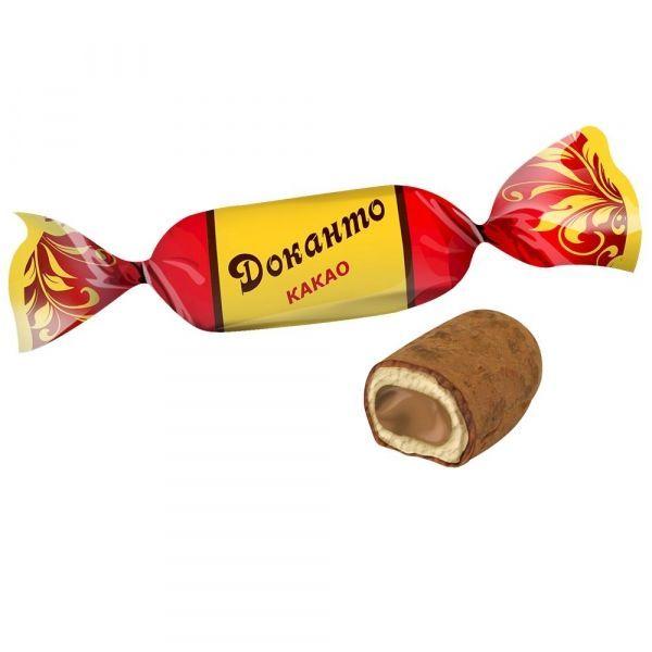 Карамель Невский кондитер Доканто какао глазированная в обсыпке какао-порошком