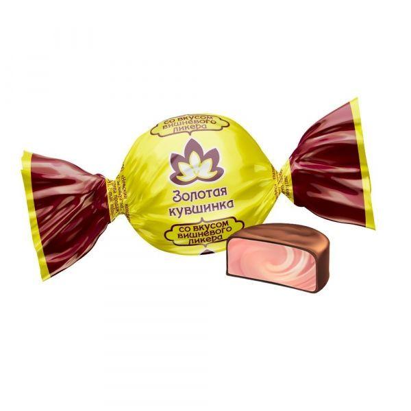 Конфеты Невский кондитер Золотая кувшинка со вкусом вишневого ликера